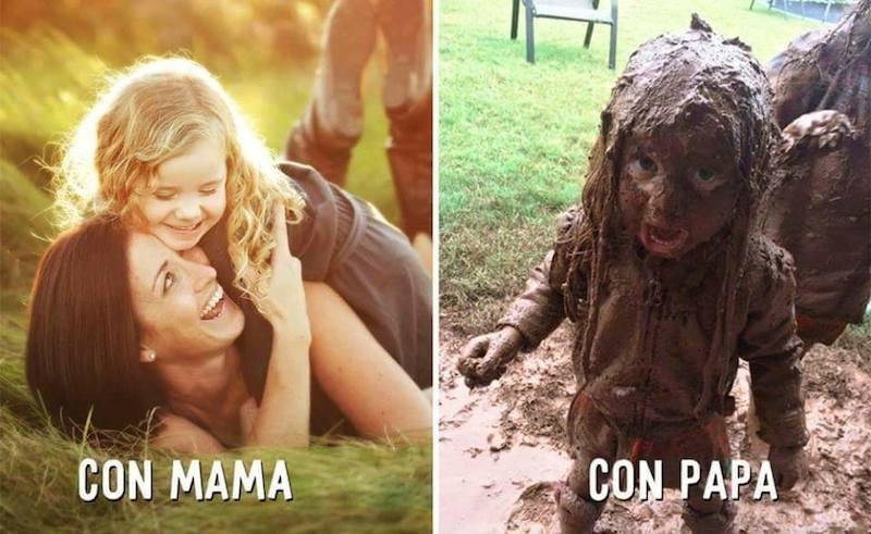 Urnebesne slike koje pokazuju razliku u roditeljstvu između mama i tata