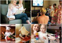 Urnebesne slike razlika u roditeljstvu između mame i tate mamaklik foto.jpg