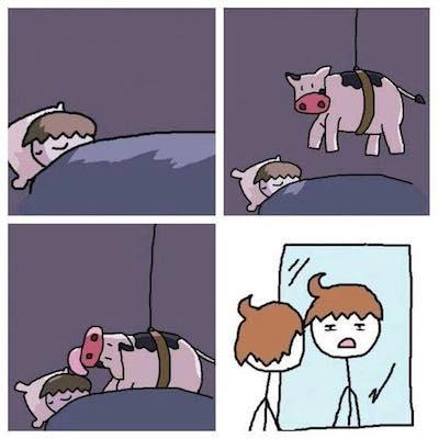 ono kad ti je kosa kao da te krava lizala mamaklik
