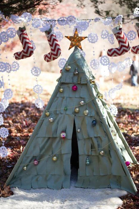Šator jelka DIY mamaklik
