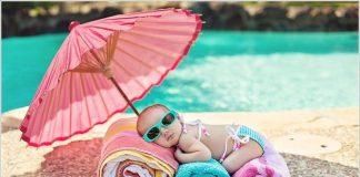 Beba i ljetne vrućine: Kako obući bebu? Klima uređaji? Bazeni?