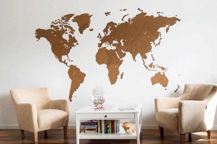 karte svijeta ukrasi za zid