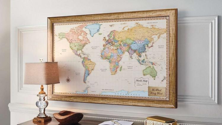 karte svijeta za zidove