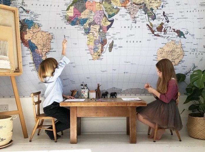 karte svijeta kao ukras mama klik